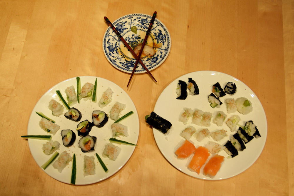 how to make sushi home