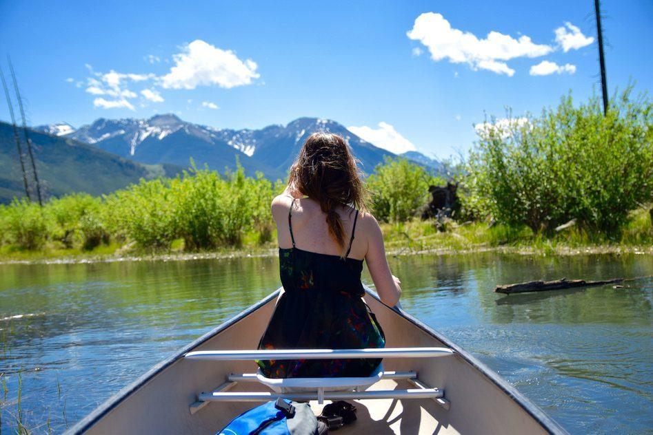 vermillion lake canoe banff