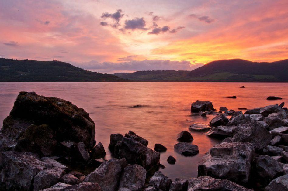 loch ness sunset magic