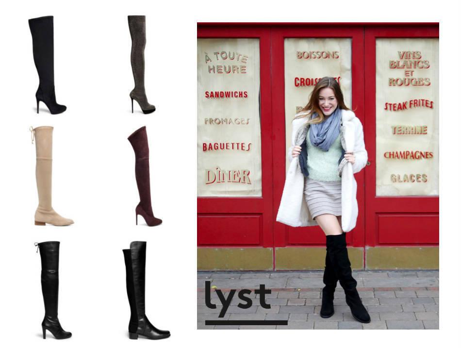 lyst boots girl vs globe
