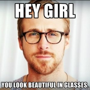 hey girl glasses meme