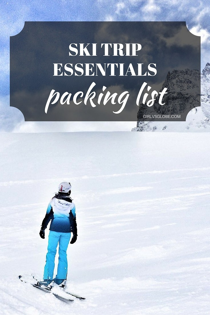 Ski essentials packing list