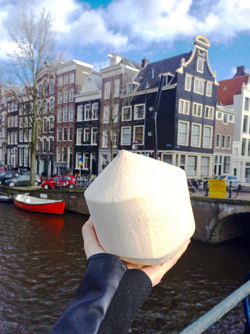 amsterdam canal fresh coconut