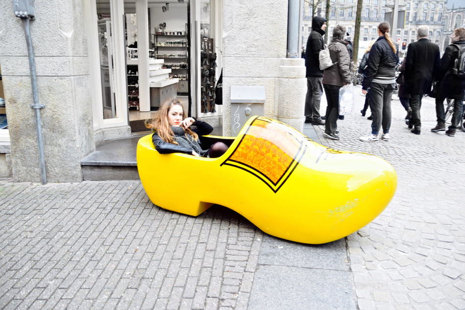 amsterdam giant yellow shoe