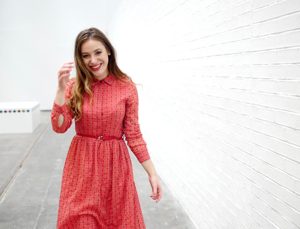 red button up dress 6