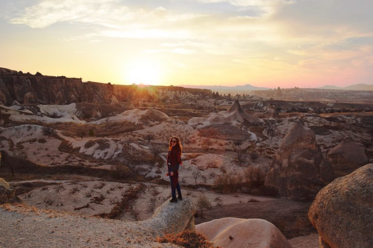 year of travel girl vs globe cappadocia