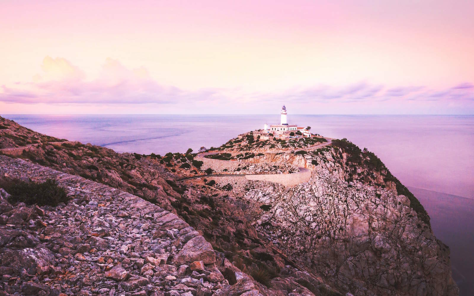 mallorca formentor lighthouse sunset