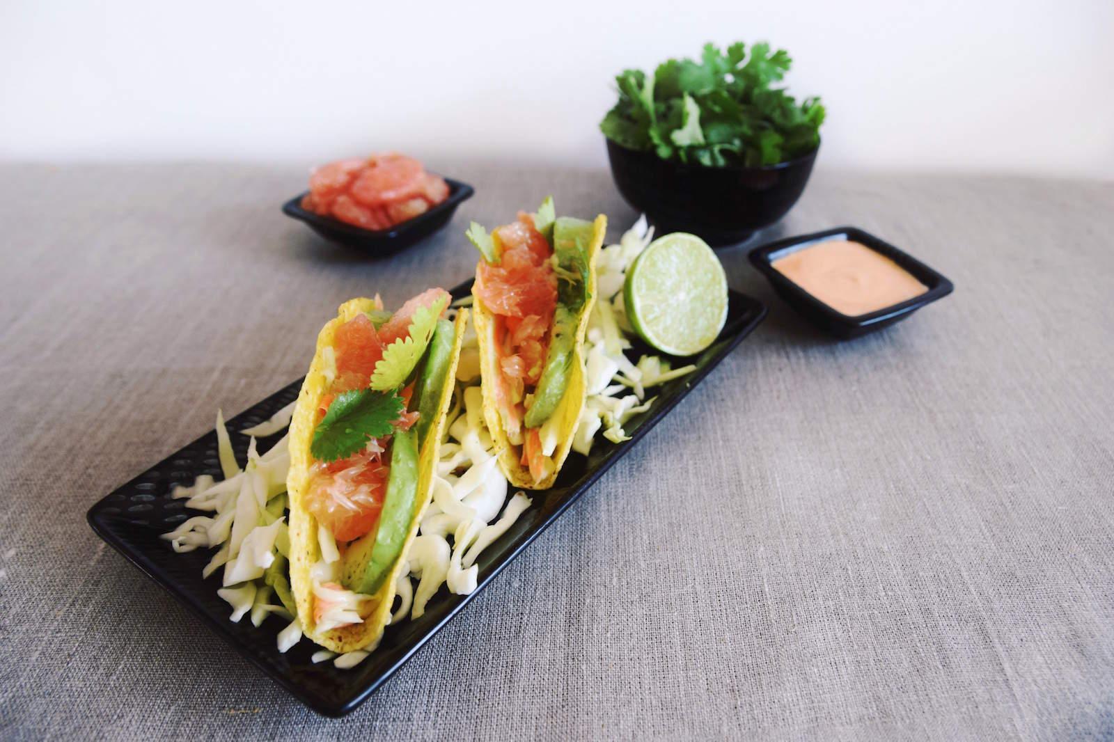 Vegan fish tacos girl vs globe for Vegan fish tacos
