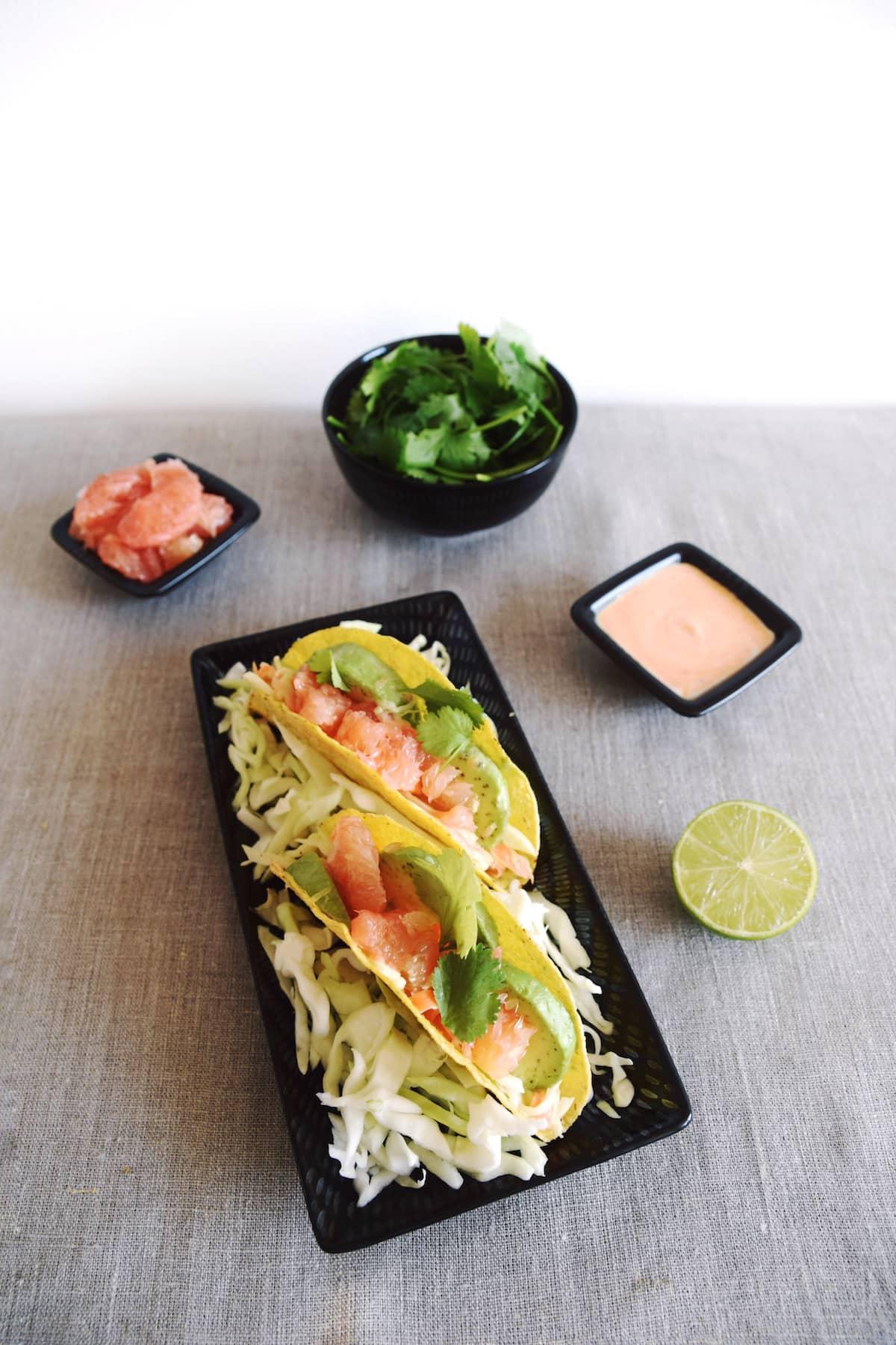Vegan fish tacos 6 girl vs globe for Vegan fish tacos
