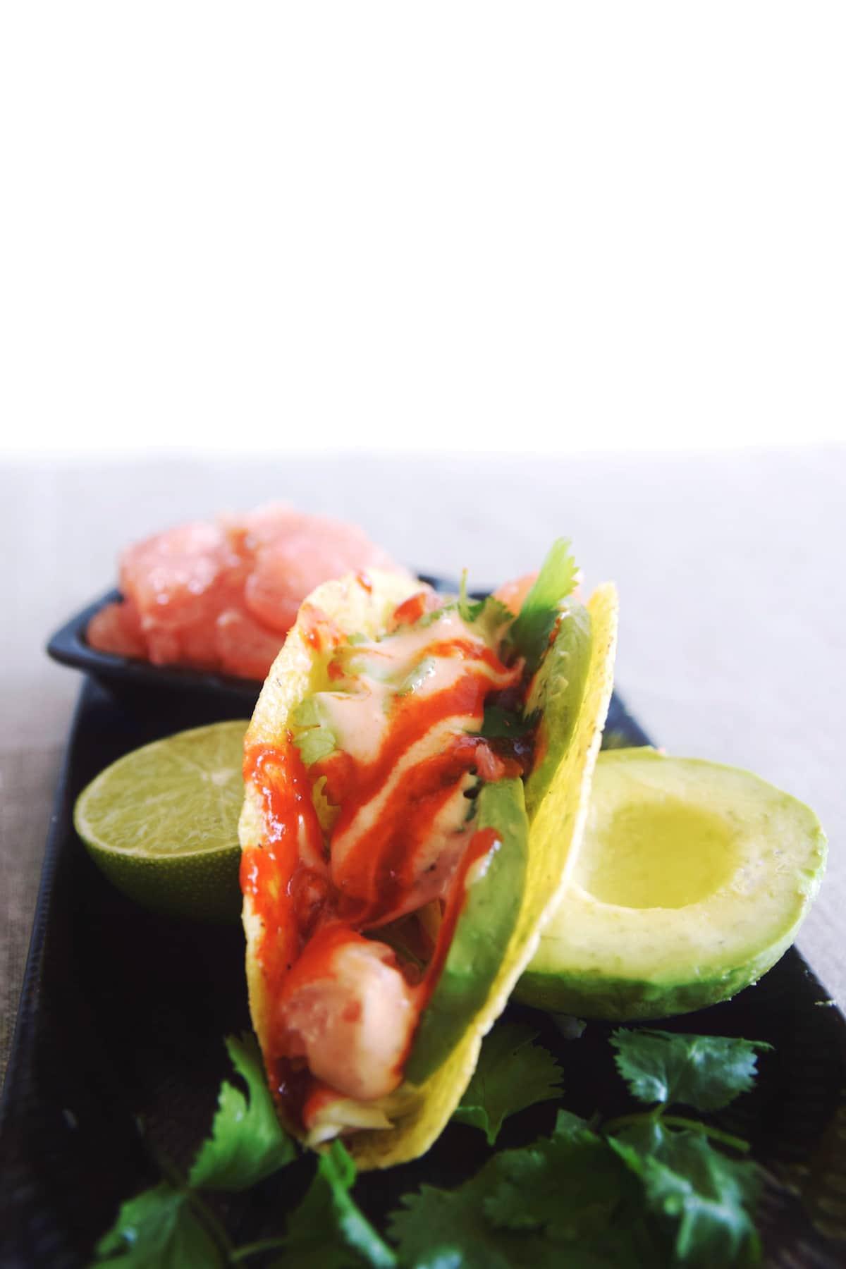 Vegan fish tacos 7 girl vs globe for Vegan fish tacos