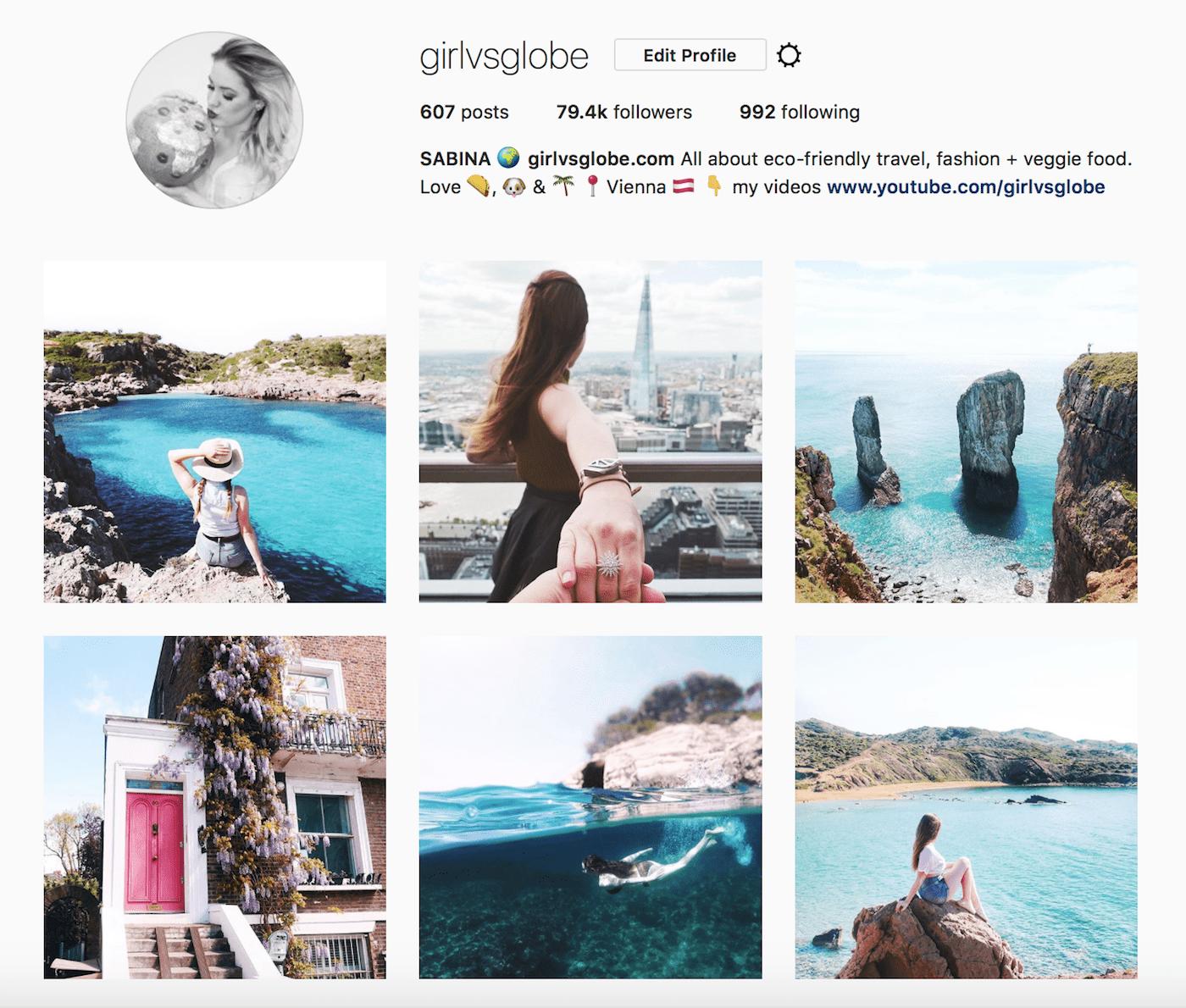 girl vs globe instagram gallery
