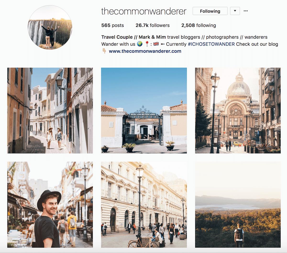 thecommonwanderer instagram gallery