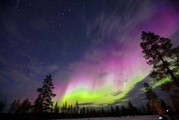 northern lights finland levi
