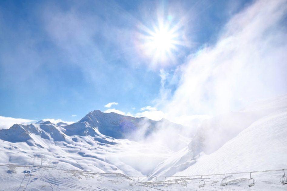 tignes france snow slope