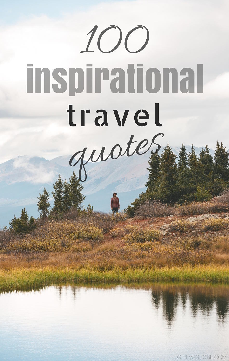 inspirational travel quotes girl vs globe