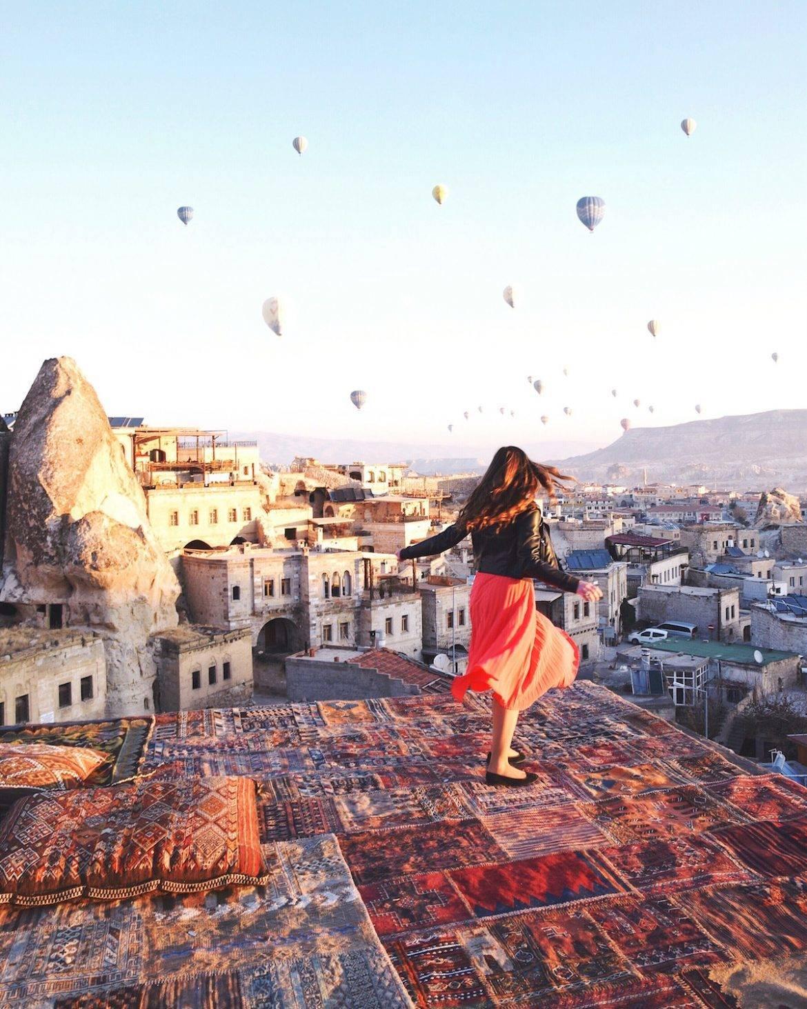 Cappadocia Turkey Girl Vs Globe