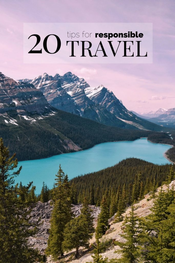 20 Responsible Travel Tips