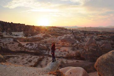 year of travel girl vs globe cappadocia