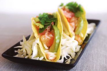 vegan fish tacos with grapefruit